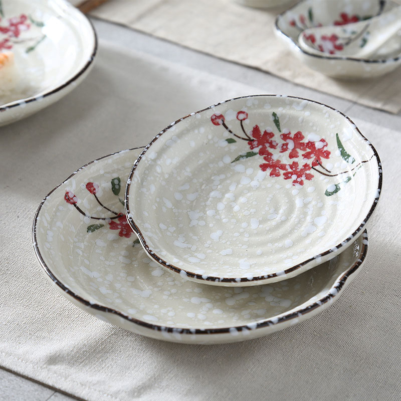 Japanese Ceramics Plates Vegetables Snack Dishes Food Tray Dinner Plates Noddle Dinnerware Kitchen Accessories Snowflake Glaze-in Dishes \u0026 Plates from Home ... & Japanese Ceramics Plates Vegetables Snack Dishes Food Tray Dinner ...