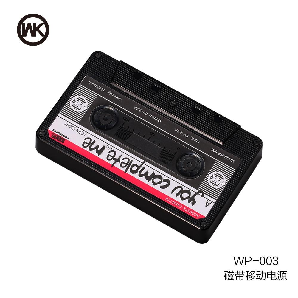 Цена за WK магнитная лента Power Bank 10000 мАч PowerBank внешний мобильный телефон зарядное устройство резервного копирования пакета с для iPhone 7 для Samsung