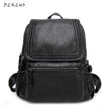 2017 высокое качество Для женщин Настоящая кожа рюкзак водостойкий Школьные сумки для подростков Meninas в Корейском стиле модный Джокер