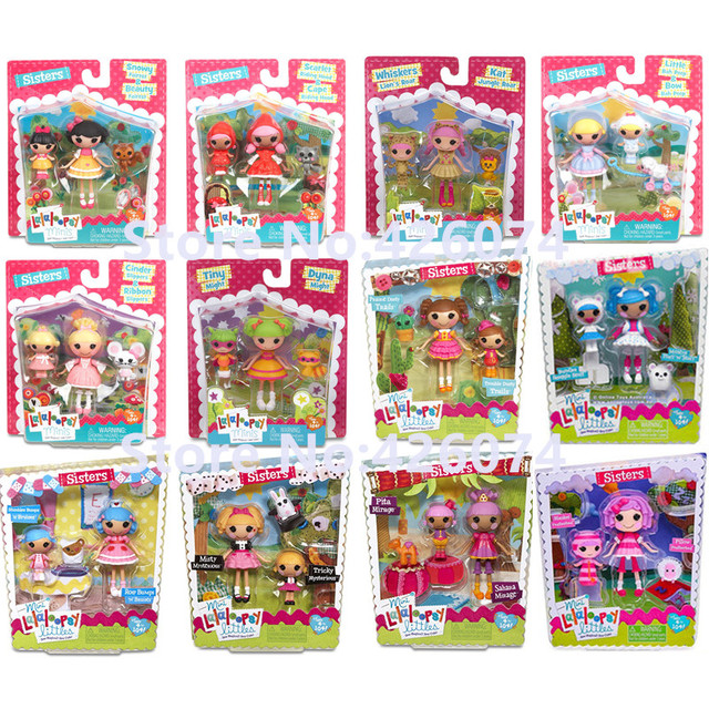 new fashion lalaloopsy minis sisters figures dolls for girls kids toys decoration children christmas gifts