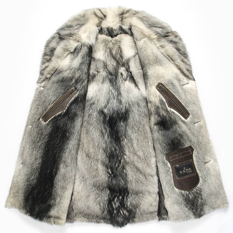 Wolf Fur Coat >> Russia High Quality Stylish Genuine Leather Jacket With Natural Wolf