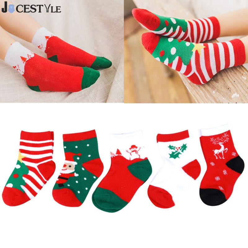 5pairs-christmas-themed-baby-socks-pure-cotton-cartoon-jacquard-socks-red-christmas-baby-socks-sweat-absorbing-breathable-socks