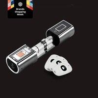 We Lock Cylinder Keyless Smart biometric App fingerprint door lock home security electronic digital door lock for home office