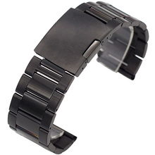 18mm 20mm 22mm 24mm 26mm 28mm 30mm Mens Stainless Steel Watch Straps For Diesel Black Silvery Solid metal band Bracelets