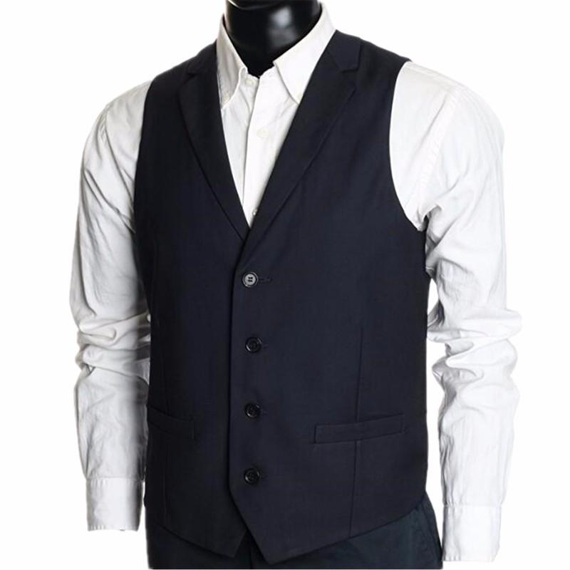 64e6ec3fa6 23.1 Single-breasted men vest black high quality wedding dress custom  handsome groom fashion style ...