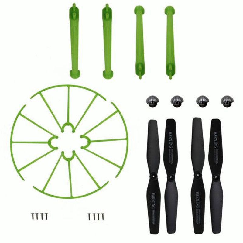 Excellent  Syma X5HW X5HC Landing Skid+Blade Propeller+Propeller Protectors Spare Set  RC Helicopter Parts Hot Sell #0607 syma x5uc x5uw rc drone spare parts engines gear propeller landing gear skid protectors ring lampshade accessories