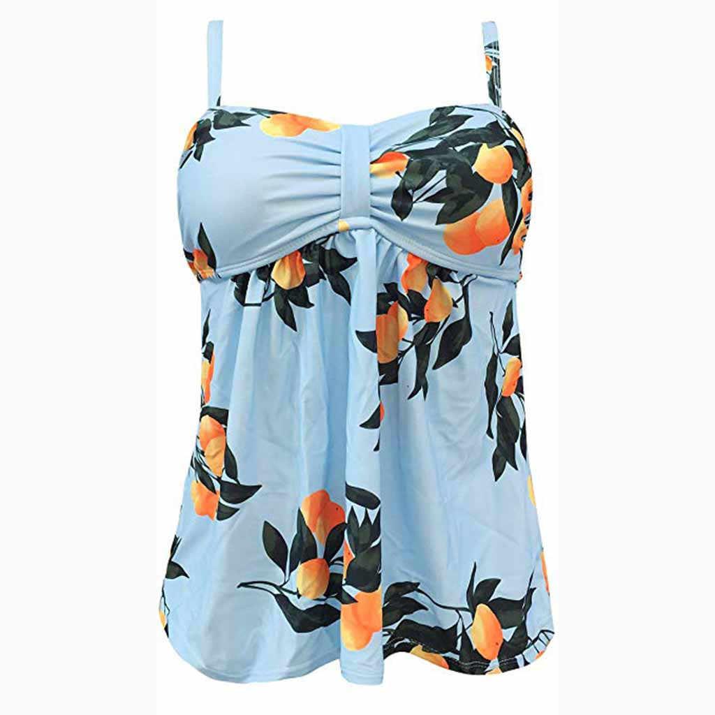 SAGACE 1 шт. плюс размер купальник Танкини оранжевый фруктовый принт купальник ретро пляжное платье купальник большой размер купальники для женщин