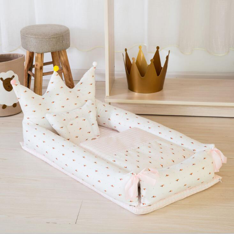 Newborn Baby Crib Portable Bed Sleep Baby Nursing Outdoor Foldable Toddler Sleeping Bag Cartoon Bedding Cotton 2pcs/set BXX005