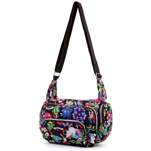 Women Messenger Bags Print Floral Cross Body Shoulder Canvas Hobo Bag Nylon Oxford Fabric Women's Handbag 3