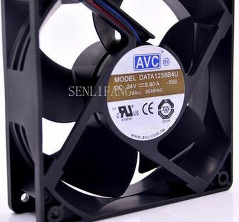 For 120mm 24V Fan  12cm 12038 Double Ball Fan DATA1238B4U For CT Converter Radiator Cooling Fan