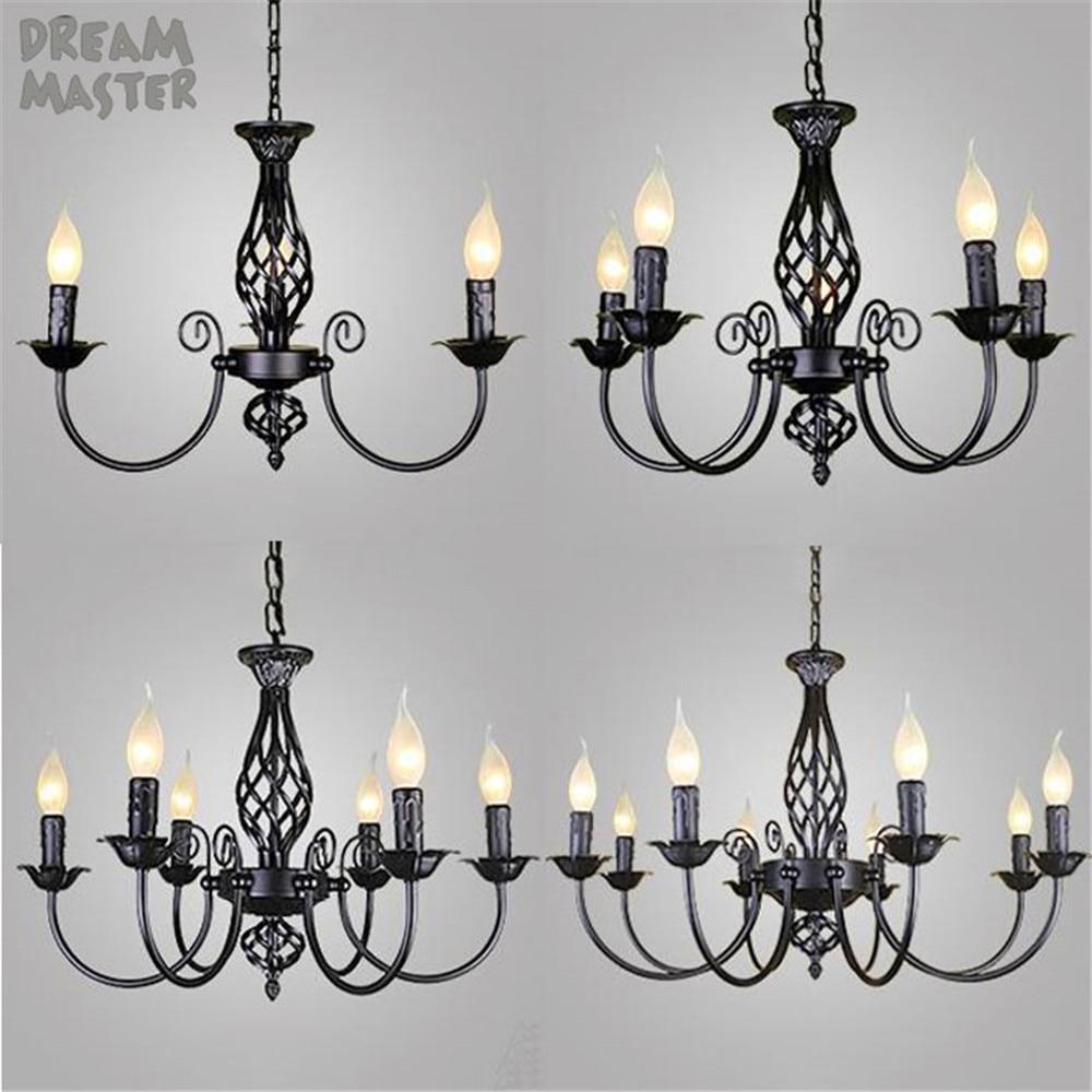 Black Chandeliers Lamp Res Modern