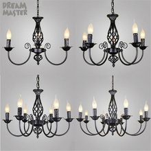 Chandeliers-Lamp Light-Decoration Lustres Living-Room Dining Modern Indoor Black Hotel