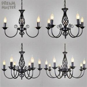 black Chandeliers lamp lustres