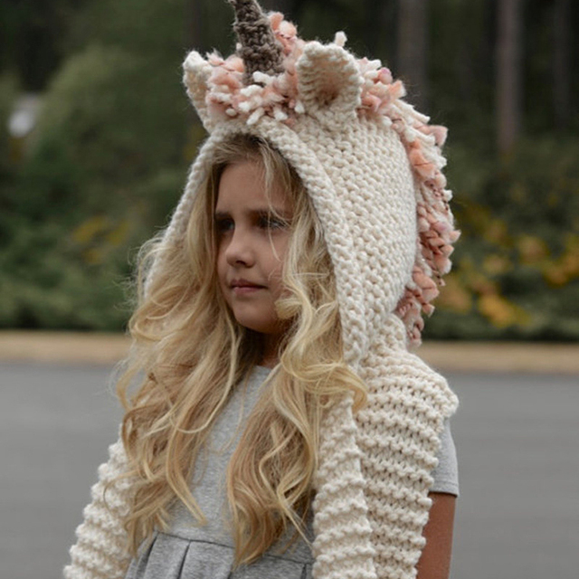 Aliexpress.com : Buy unicorn hat with scarf kids Unicorn ...