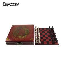 Easytoday традиционные шахматы деревянные игры синтетическая