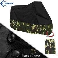 L XL XXL XXXL XXXXL Black Camouflage Motorcycle Cover UV Protector Waterproof Rain Dustproof Motor Cover