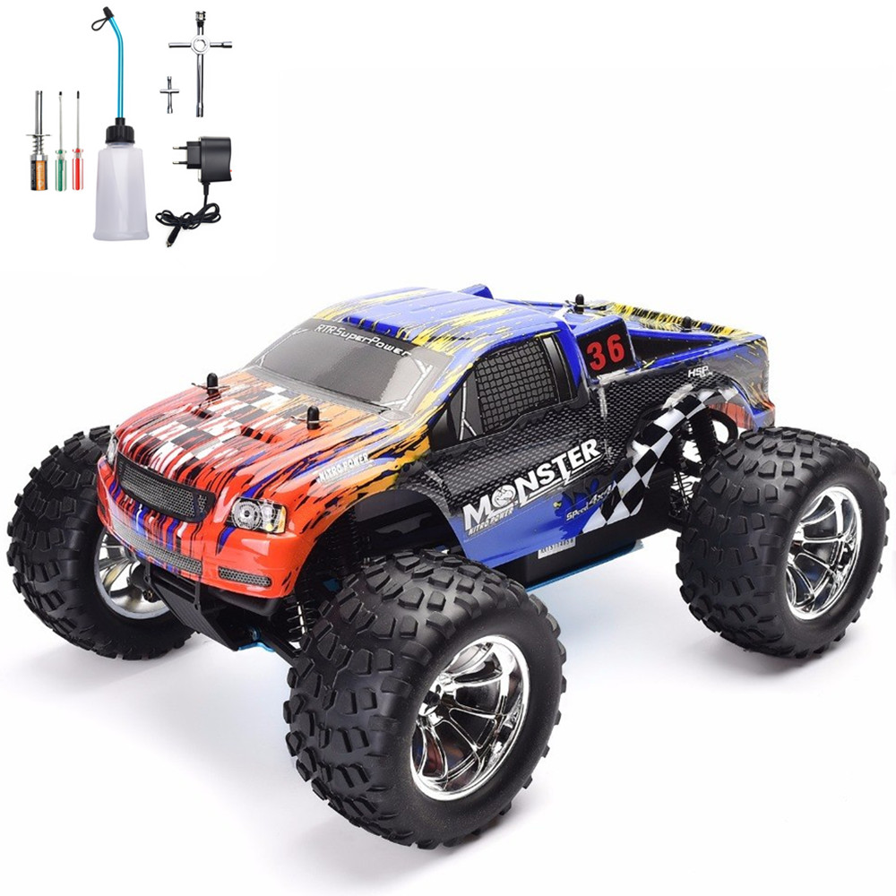 HSP RC Car 1:10 Scale Nitro Gas Power 4wd Remote Control Car High Speed Hobby Racing Rc Toys Two Speed Off Road Monster Truck