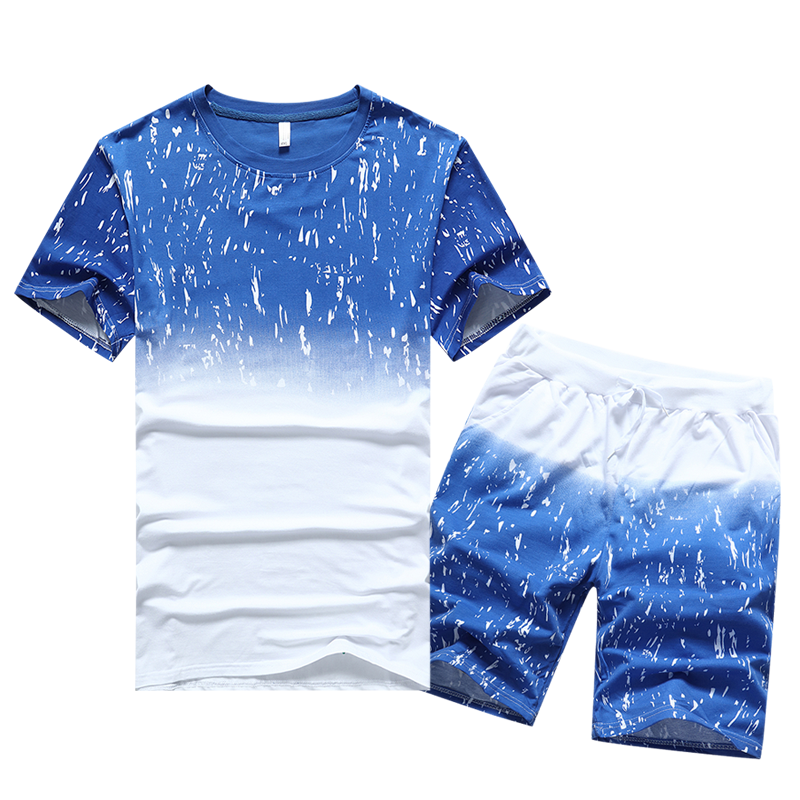 LEFT ROM 2018 fashion male summer high-grade slim Fit printing T-shirts suits/men's Round collar leisure T-shirts M-4XL