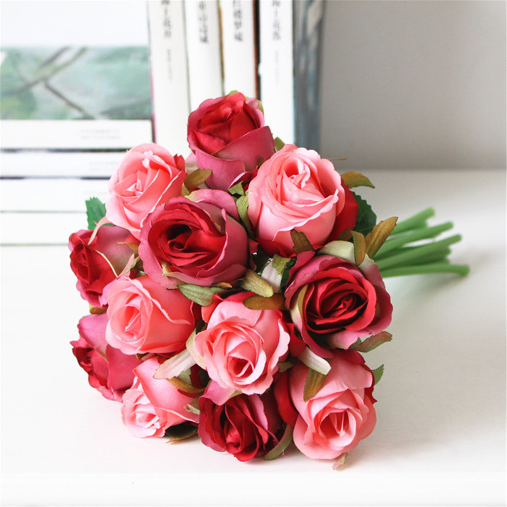 Fake Red Rose Centerpiece : Online buy wholesale red roses bouquet from china