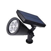 Al aire libre LED solar powered bombilla PIR sensor de movimiento impermeable sistema jardín calle camino Iluminación lámpara del césped