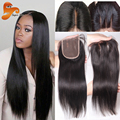 Brazilian Lace Closure Bleached Knots Straight 4x4 Virgin Human Hair Closure Free Middle 3 Part Closure Top Lace Front Closures