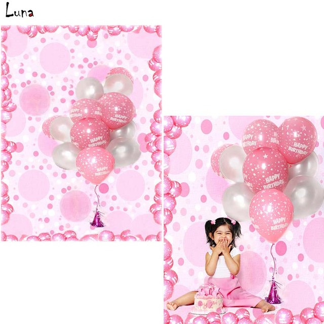 MEHOFOTO Pink Balloon Vinyl Photography Background For Newborn Birthday Party New Fabric Flannel Backdrop Photo Studio 2753