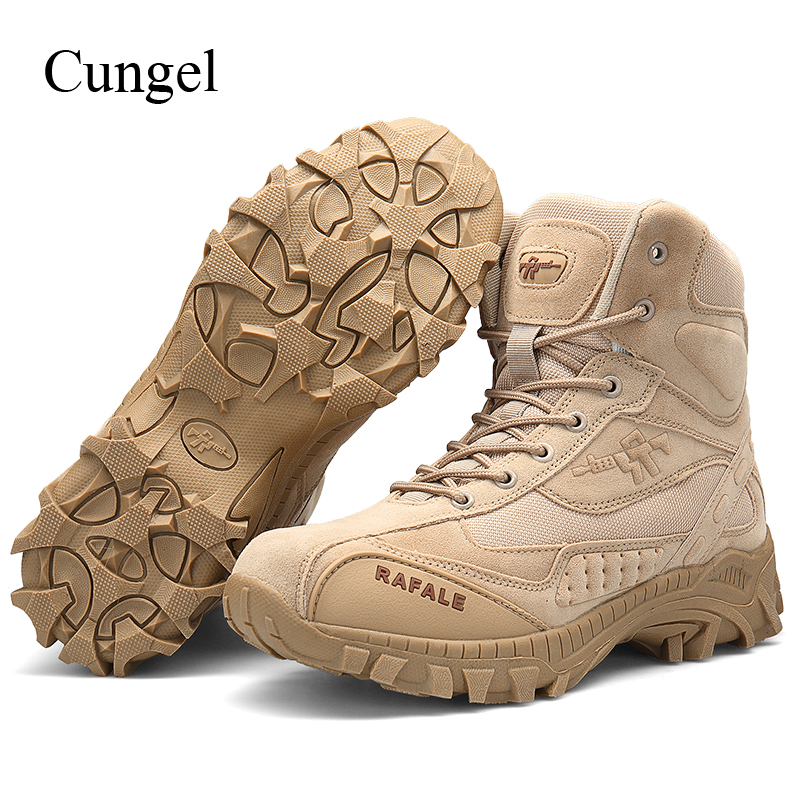 Cungel Military Tactical boots Men Army Combat Outdoor Hiking Shoes breathable Anti-skid Boots Shoes Trekking Mountain ClimbingCungel Military Tactical boots Men Army Combat Outdoor Hiking Shoes breathable Anti-skid Boots Shoes Trekking Mountain Climbing
