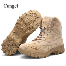 Cungel Military Tactical boots Men Army Combat Outdoor Hiking Shoes breathable Anti-skid Boots Shoes Trekking Mountain Climbing men s hiking shoes outdoor sneakers anti skid hunting climbing shoes men s military tactical army shoes breathable hiking boots