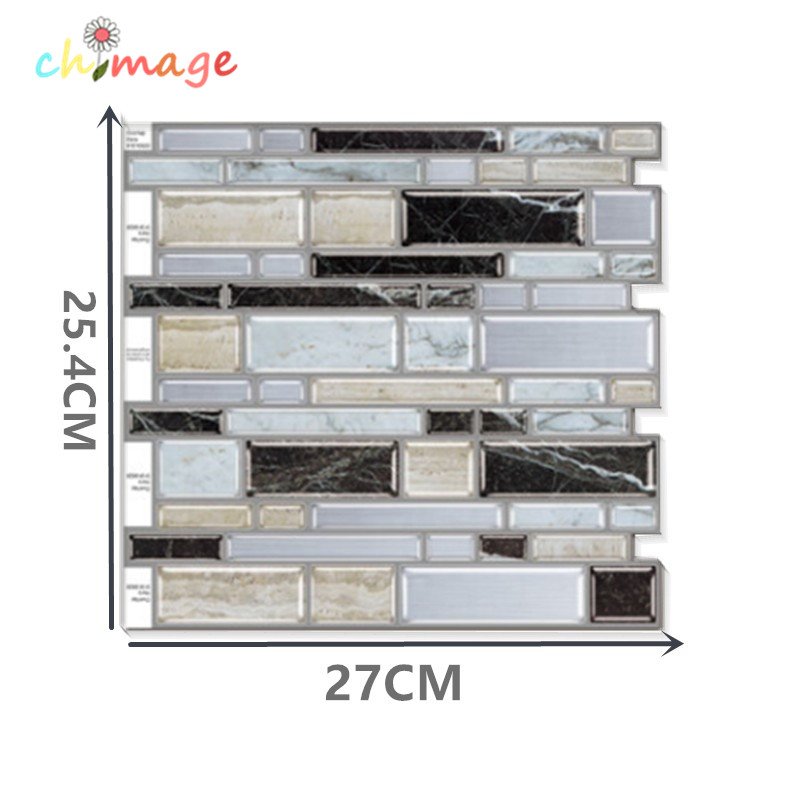 peel and stick Self Adhesive 3d Mosaic Tile Wall Sticker DIY Kitchen Bathroom Backsplash Home Decor Foil Wallpaper O