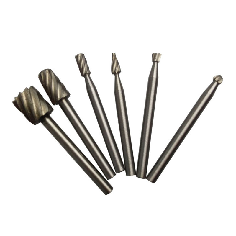 New 6PCS Tungsten Rotary Burr Set Routing Router Bit Mill Cutter Rotary Tool E2shopping ALI88