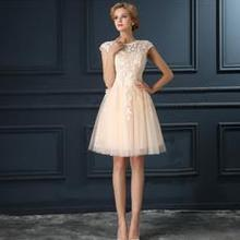 ruthshen Robe De Soiree Mini Short Champagne Gray Short Cocktail Dresses  2018 Cap Sleeve Vestidos Coctel 933e5203e9dc