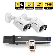 2016 Hotting 4CH CCTV Система Безопасности 720 P HDMI АХД DVR 2 ШТ. 1200 ТВЛ 1.0 MP Открытый Пуля Белый Камеры Видеонаблюдения Система Комплект