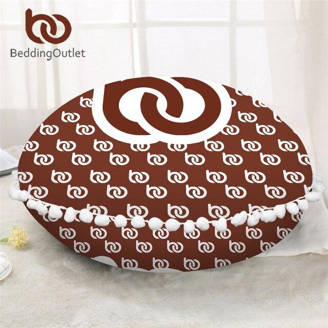 BeddingOutlet Print on Demand Custom Made Round Pillow Cover Photo Customize DIY Floor Cushion Cover Dropshipping POD Pillowcase
