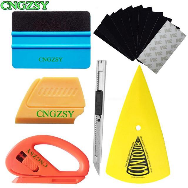 مجموعة أدوات الفينيل K23 ، ممسحة احترافية خالية من الخدوش ، سكين أمان ، سكين فني ، مكشطة طرف مدبب ، غلاف سيارة