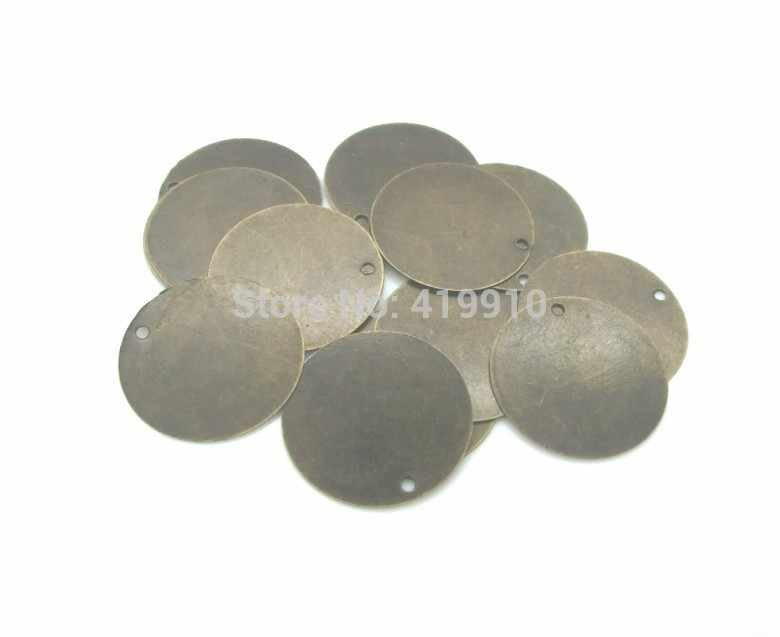 30 Stamping tags  20mm round blank silver plated TAG2