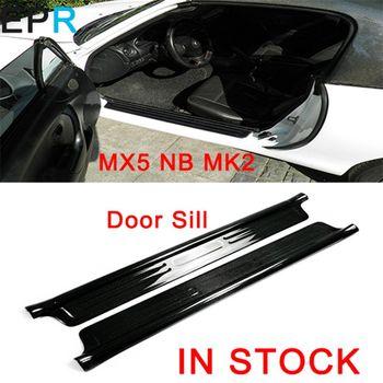 MX5 NB MK2 Miata Karbon Fiber Kapı Eşiği Mazda Parlak Fiber Dış Cephe Aksesuarları