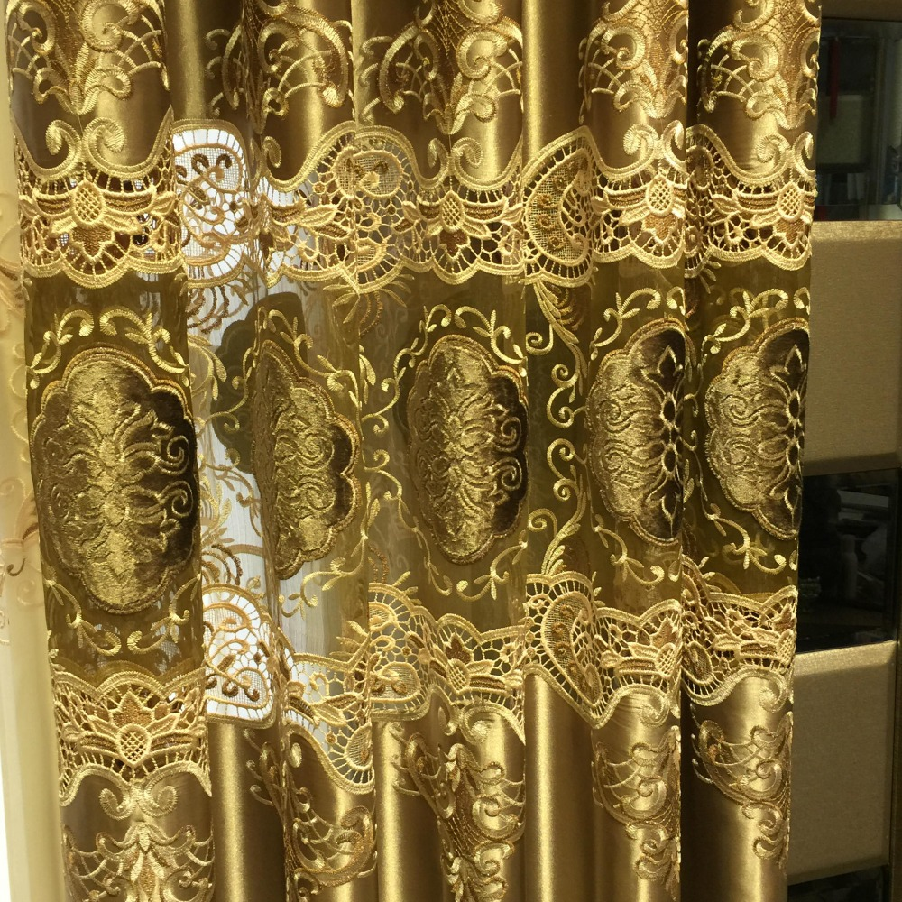 100% Polyester European Luxury Curtains embroidery curtain for - Home Textile - Photo 2