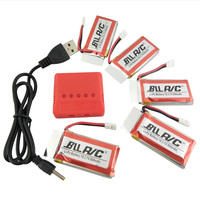 BLLRC Hot Model Aircraft Battery 3 7V 800mah 5PCS And 5 In 1 Charger Available SYMA