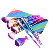 Brand 7 13Pcs Diamond Shape Makeup Brushes Set Beauty Cosmetic Eyeshadow Lip Powder Face Pinceis