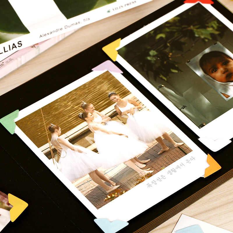 192 шт./лот Цвет Бумага углу наклейки для фотоальбом реквизит фотографии Декор угол наклейки фотоальбом
