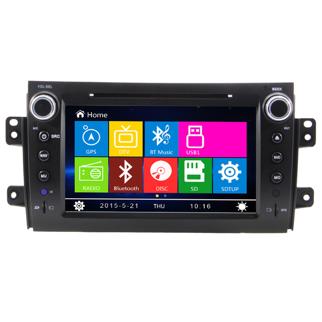 Free map Car Stereo for Suzuki SX4 Autoradio GPS Navigation SatNav DVD Player, Suzuki SX4 car navigation entertainment system