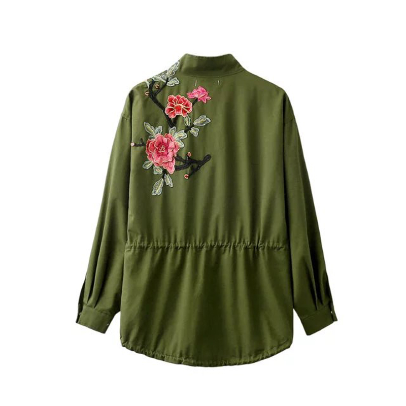 Aliexpress.com : Buy Women Vintage Army Green Jacket Coats Ladies ...