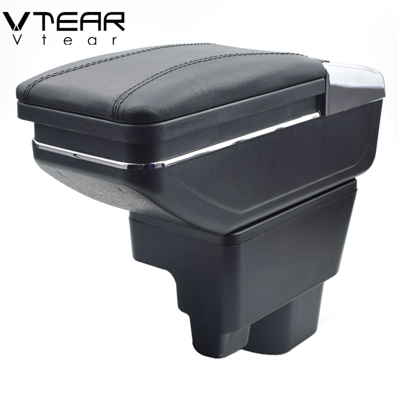 Vtear For Geely MK armrest box central Store content box cup holder ashtray car styling products
