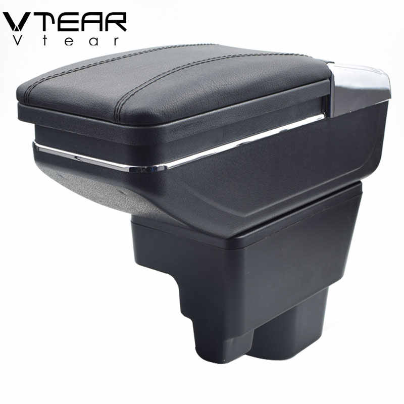Vtear For Geely MK car armrest leather arm rest rotatable storage box accessories decoration car-styling center centre console