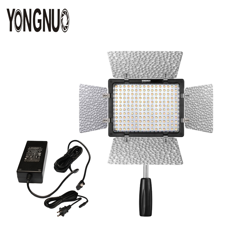YONGNUO YN160 III Bi-color 3200-5500K CRI95 160 LED Video Light with AC DC Power Adapter Kit For Canon Nikon Sony DSLR Camcorder накамерный свет yongnuo led yn 160 iii 3200 5500k