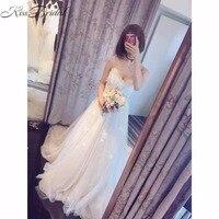 vestidos de novia New Fashion 2018 Beach Wedding Dress Summer Style Tulle Appliques Bride Dresses Spaghetti Straps