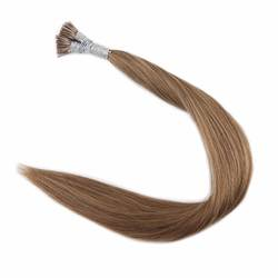 Полный блеск 100% Реми Предварительно связаны человеческих волос я расширения Совет 0,8 г на нитке 50strands расширения Cheust коричневый Цвет #8 я