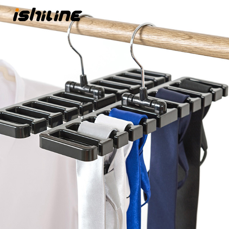 Multifuctional Storage Rack Tie Belt Organizer Rotating Ties Hanger Holder Wardrobe Closet Storage Holder With Metal Hanger
