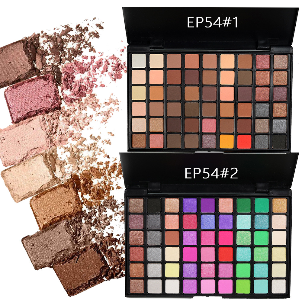 POPFEEL 54 Color Matte Eyeshadow Palette Smoky Makeup Nude Color Eye Shadow Matte Shimmer Mixed Eyeshadow Eyes Makeup in Eye Shadow from Beauty Health