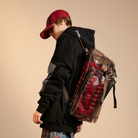 Luxury Backpack Clear Backpack Sequin Backpack TPU Casual Trend Transparent Hip Hop Euramerican 3M Reflective light